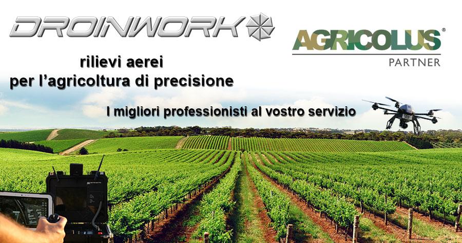 Droinwork / Partnership con Agricolus per l'Agricoltura di Precisione
