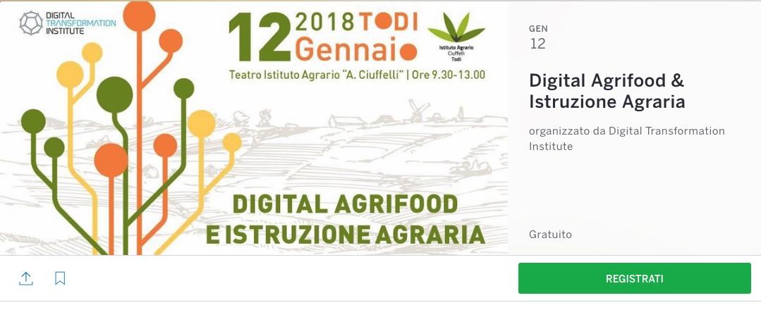 Digital Agrifood & Istruzione Agraria a Todi