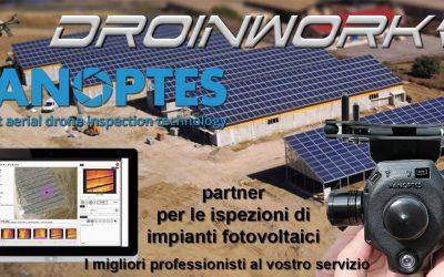 Droinwork / Partnership con Panoptes per il fotovoltaico