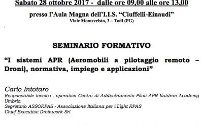 """SEMINARIO FORMATIVO – Aula Magna dell'I.I.S. """"Ciuffelli-Einaudi"""" TODI (PG)"""