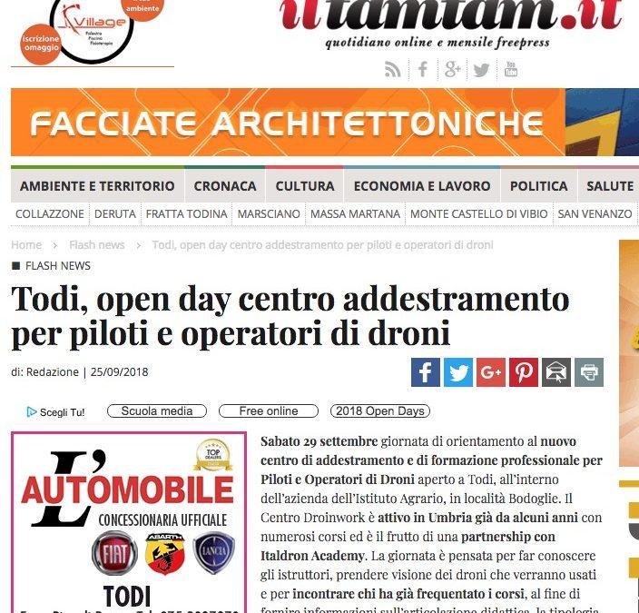 iltamtam.it / Todi | Open day Centro Addestramento per Piloti e Operatori di droni Droinwork
