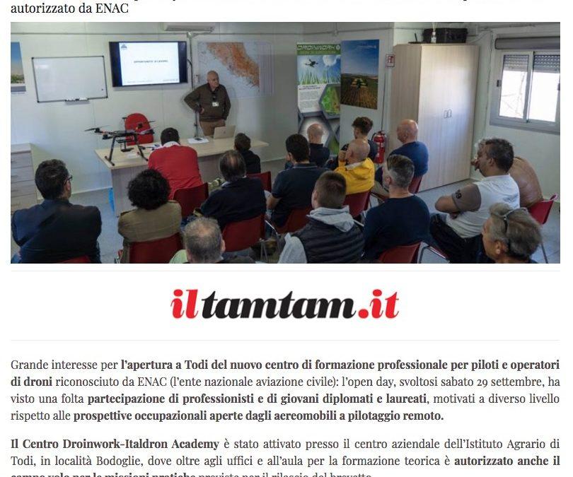 """iltamtam.it / Al decollo a Todi la """"scuola di droni"""" Droinwork"""