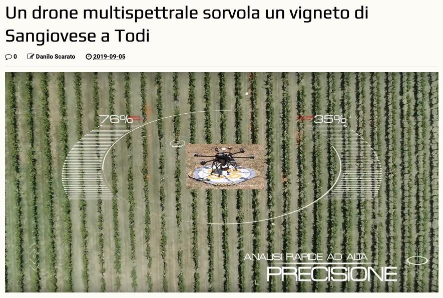 Quadricottero News | Un drone multispettrale sorvola un vigneto di Sangiovese a Todi
