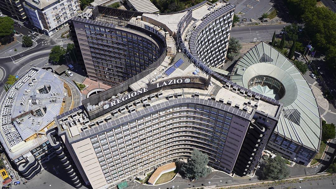 Rilievo architettonico da Drone e Laser Scanner degli edifici della Regione Lazio
